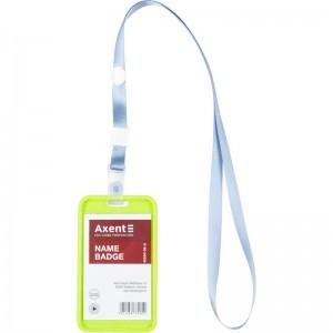 """Шнурок с силиконовим клипом для бейджа 20шт, светло- голубой """"Axent"""" 4551-03-a"""