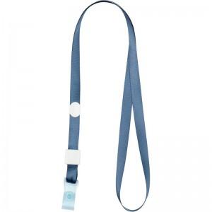 """Шнурок с силиконовим клипом для бейджа 20шт, дымчатый синий """"Axent"""" 4551-15-a"""