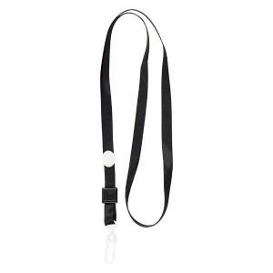 """Шнурок с пластиковым карабином для бейджа 20шт, черный """"Axent"""" 4531-01-A"""