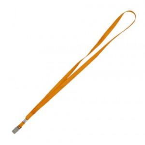 """Шнурок с металлическим клипом для бейджа 20шт, оранжевый""""Axent"""" 4532-12-A"""
