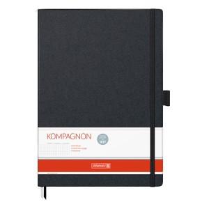 "Книга записная Компаньон черная А4, клетка ""Brunnen"" 10-552 88 05"
