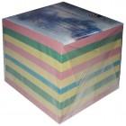 """Блок цветной бумаги для заметок  90х90x90мм, не склеенный """"Магнат"""" MS-0012"""