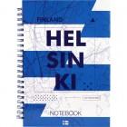"""Блокнот на спирали, А5, твердая обложка, 96 л, клетка Helsinki """"Axent"""" 8032-06-A"""