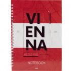 """Блокнот на спирали, А5, твердая обложка, 96 л, клетка Vienna """"Axent"""" 8032-07-A"""