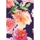 """Блокнот-планшет клееный сверху А5, 50 л, клетка, Flowers """"Axent"""" 8441-09-a"""