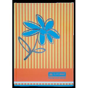 """Книга канцелярская FLOWERS, 80л., клетка, А4 оранжевый  """"BuroMAX"""" BM.2300-611"""