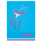 """Книга канцелярская FLOWERS, 80л., клетка, А4 голубой """"BuroMAX"""" BM.2300-614"""