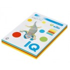 Набор цветной бумаги 80 г/м2, А4 250л, 5цв х 50л MIX интенсив «IQ» RB02