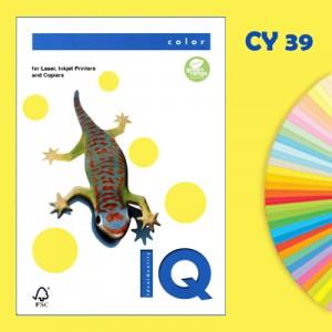 Бумага цветная 80 г/м2, А4 желтая  «IQ»  CУ39