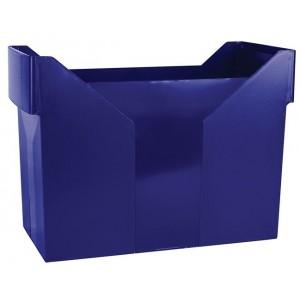 """Картотека для подвесных файлов пластиковая, синяя """"Donau"""" 7421001-18"""