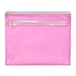 """Папка-конверт на молнии, А5, 2 отделения, розовый """"Axent"""" 1428-10-A"""