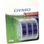 Лента для механических принтеров Dymo Omega 9 ммx3м, пластиковая синяя, 3 шт S0847740