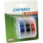 Лента для механических принтеров Dymo Omega 9 ммx3м, пластиковая ассорти, 3 шт S0847750
