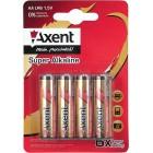 Батарейка AXENT AАA Super ALKALINE 1,5V (LR3), на блистере по 4 штуки 5553-A