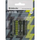 Батарейка Defender Alkaline LR03-4B AAA, 4 шт (56002)