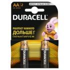 Батарейка Duracell AA Basic alkaline 1,5V (LR6-B2, MN1500), на блистере по 2 штуки s.58163