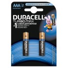Батарейка Duracell AAA Turbo Max alkaline 1,5V (LR03-B2, MX2400), на блистере по 2 штуки 09436
