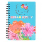 """Блокнот на спирали, А6, пласт. обложкой, 80 л, клетка Hello Kitty """"Kite"""" HK17-226"""