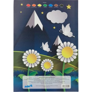 """Набор цветной бумаги и цветного картона, А4 (7+7) """"Kite"""" K17-1256"""
