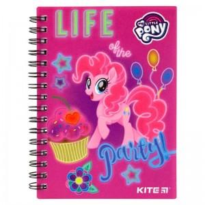 "Блокнот на спирали, А6, пласт. обложкой, 80 л, клетка My little Pony ""Kite"" LP19-226"