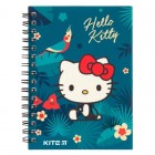 "Блокнот на спирали, А6, пласт. обложкой, 80 л, клетка Hello Kitty ""Kite"" HK19-226"