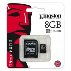 Карта памяти Kingston microSDHC 8GB Class 10 + SD адаптер (SDC10/8GB)