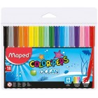 "Фломастеры ""COLOR PEPS Ocean"", 18 цветов ""Maped"" 845721"