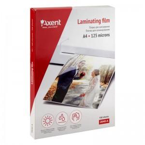 """Пленка для ламинирования 125мкм, A4, 100 шт """"Axent"""" 2040-A"""