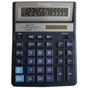 "Калькулятор 12р, 157х200х31 мм ""Brilliant"" BS-777ВL"