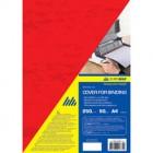 """Обложка картонная """"под кожу"""" А4, красная, 250 г/м2, 50 шт """"BuroMAX"""" 0580-05"""