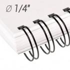 "Металлические пружины 1/4"", диаметр 6.4 мм, шаг 3:1, черные ""wireMARK"" 47212"