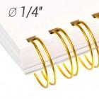 "Металлические пружины 1/4"", диаметр 6.4 мм, шаг 3:1, золото ""wireMARK"" 47218"