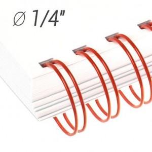 "Металлические пружины 1/4"", диаметр 6.4 мм, шаг 3:1, красные ""wireMARK"" 47214"
