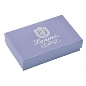 """Футляр для пластиковых карт """"Tracery"""" 11.8х7.6х2.7см, серый """"Langres"""" LS.820302-09"""