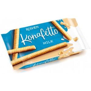 """Вафельные трубочки Konafetto Milk, с молочной начинкой """"Roshen"""" 140 гр"""