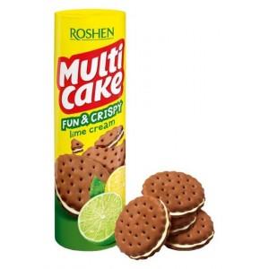 Roshen крекер  Multiсake Fun & Crispy с лаймовой начинкой 135 г (24891)