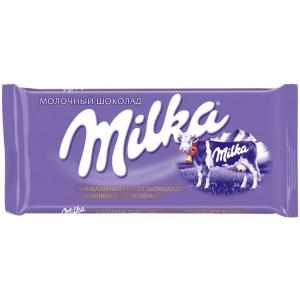 """Шоколад молочный, 90 гр """"Milka"""" 13009"""