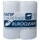 """Туалетная бумага 2-х слойная, 4 рулона, белая """"Buroclean"""" 10100011"""