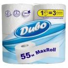 """Туалетная бумага 2-х слойная, 4 рулона, белая Max Roll 55 метров """"ДИВО"""" тп.дв55б"""