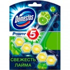 """Domestos Power 5 Гигиенический блок для унитаза """"Свежесть лайма"""" 55 г  50719518"""